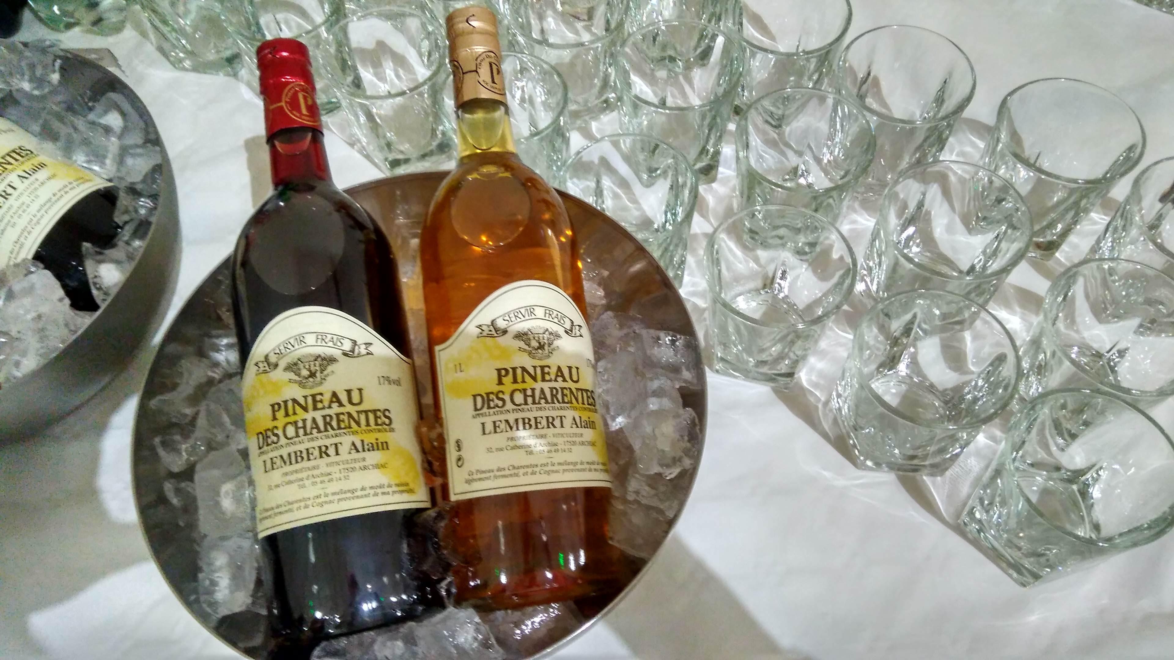 P&C Pineau des Charentes Dégustation Tasting Glace Ice