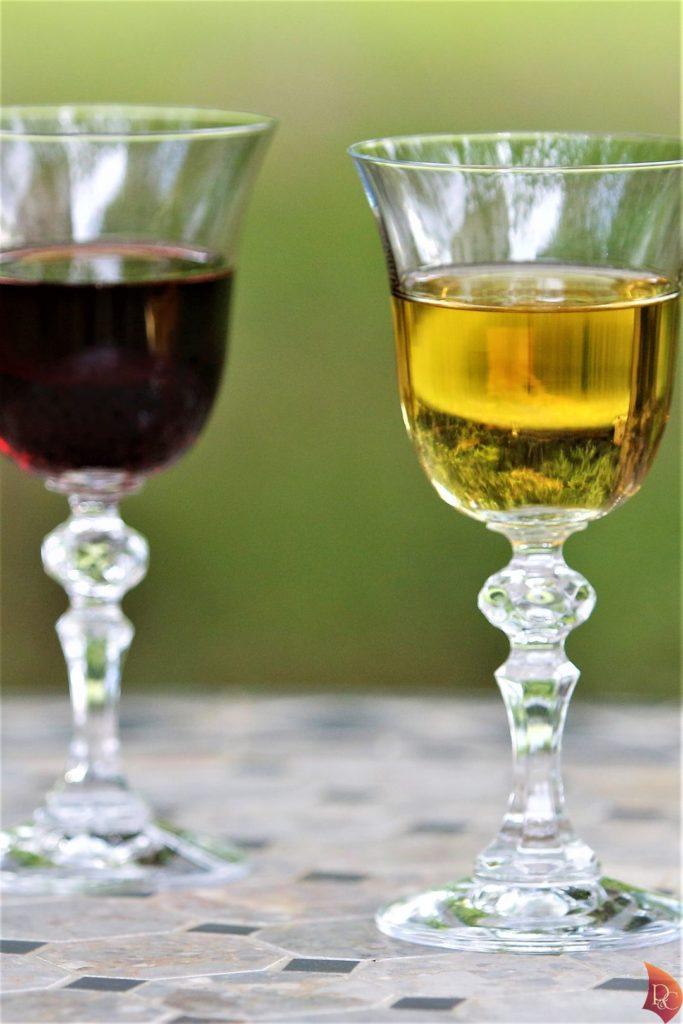 P&C Verres Pineau des Charentes Blanc Rouge